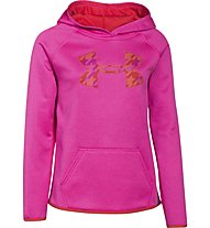 Under Armour Big Logo Hoody Fleece Mädchen, Rebel Pink