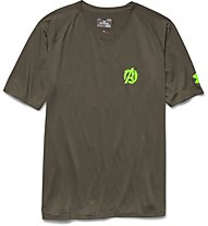 Under Armour Avengers 2 Hulk Tee Loose Maglietta, Marine Od Green