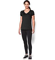 Under Armour HeatGear Armour T-shirt Fitness donna, Black