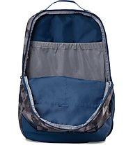 Under Armour Hustle Backpack LDWR Zaino, Steel/Blue