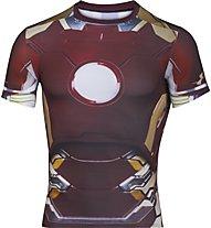 Under Armour Alter Ego Iron Man Kompressionsshirt, Maroon