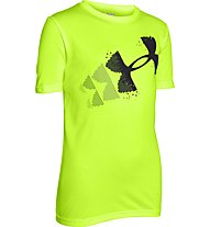 Under Armour Logo Hybrid Shirt Jungen, Fuel Green/Black
