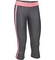 Under Armour Pant. Sport Capri Pantaloni corti fitness donna, Grey/Rose