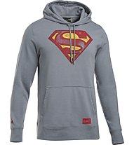 Under Armour Retro Superman Tribl Felpa con cappuccio fitness, Grey