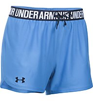 Under Armour Short UA Play Up Pantaloni corti fitness donna, Light Blue