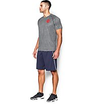 Under Armour Tech Scope Printed T-shirt, Grey/Red