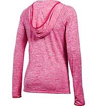 Under Armour UA Tech Henley Felpa con cappuccio fitness donna, Pink
