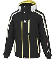 Vuarnet Giacca sci M-Lunel Jacket Man, Black/White Sail/Lemon