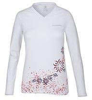 Wild Roses Isadora WR Logo R-Neck Shirt Langarm Damen, White Sail