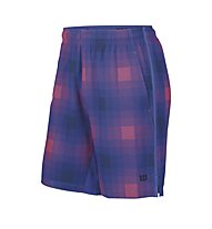 """Wilson Blur Str Wvn 10"""" Short - kurze Tennishose, Blue Iris Plaid/Coal"""