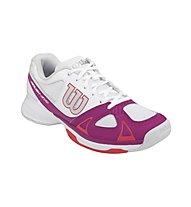 Wilson Rush Evo scarpe tennis donna, White/Pink