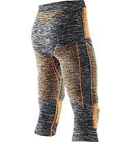 X-Bionic Pantalone intimo lungo Accumulator Evo Medium Pant, Grey Melange/Orange