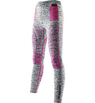 X-Bionic Energy Accumulator Evolution Melange Pants Long lange Damen-Unterhose, Grey Melange/Raspberry