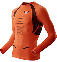 X-Bionic The Trick OW Running Shirt - maglia running, Orange Sunshine/Black