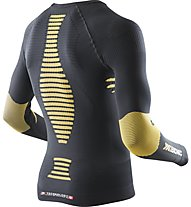 X-Bionic Ski Touring Evo Man Shirt LS V-Neck langärmliges Funktionsshirt, Black/Sun